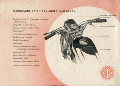 Motormobilia anker bielefeld motorrad prospekt 4 seiten 1951 - Ankergarten bielefeld ...