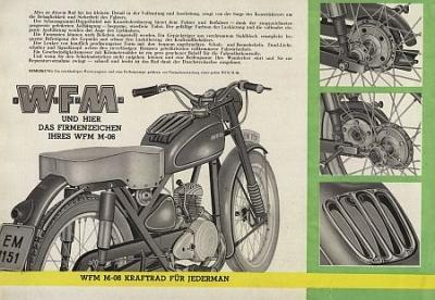 motormobilia - W F M  Motorcycle Brochure Typ M-06 125ccm 8