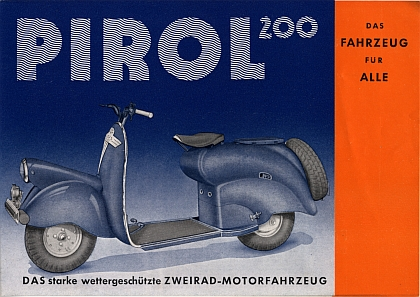 motormobilia pirol roller prospekt typ 200ccm 6 seiten 1952. Black Bedroom Furniture Sets. Home Design Ideas